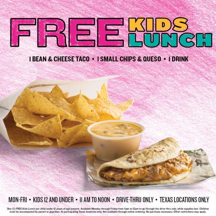 free kids meals summer