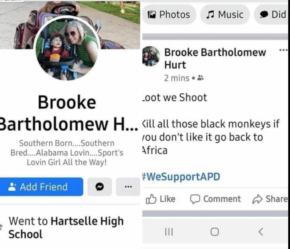 screenshot of Mansfield ISD racism FV post