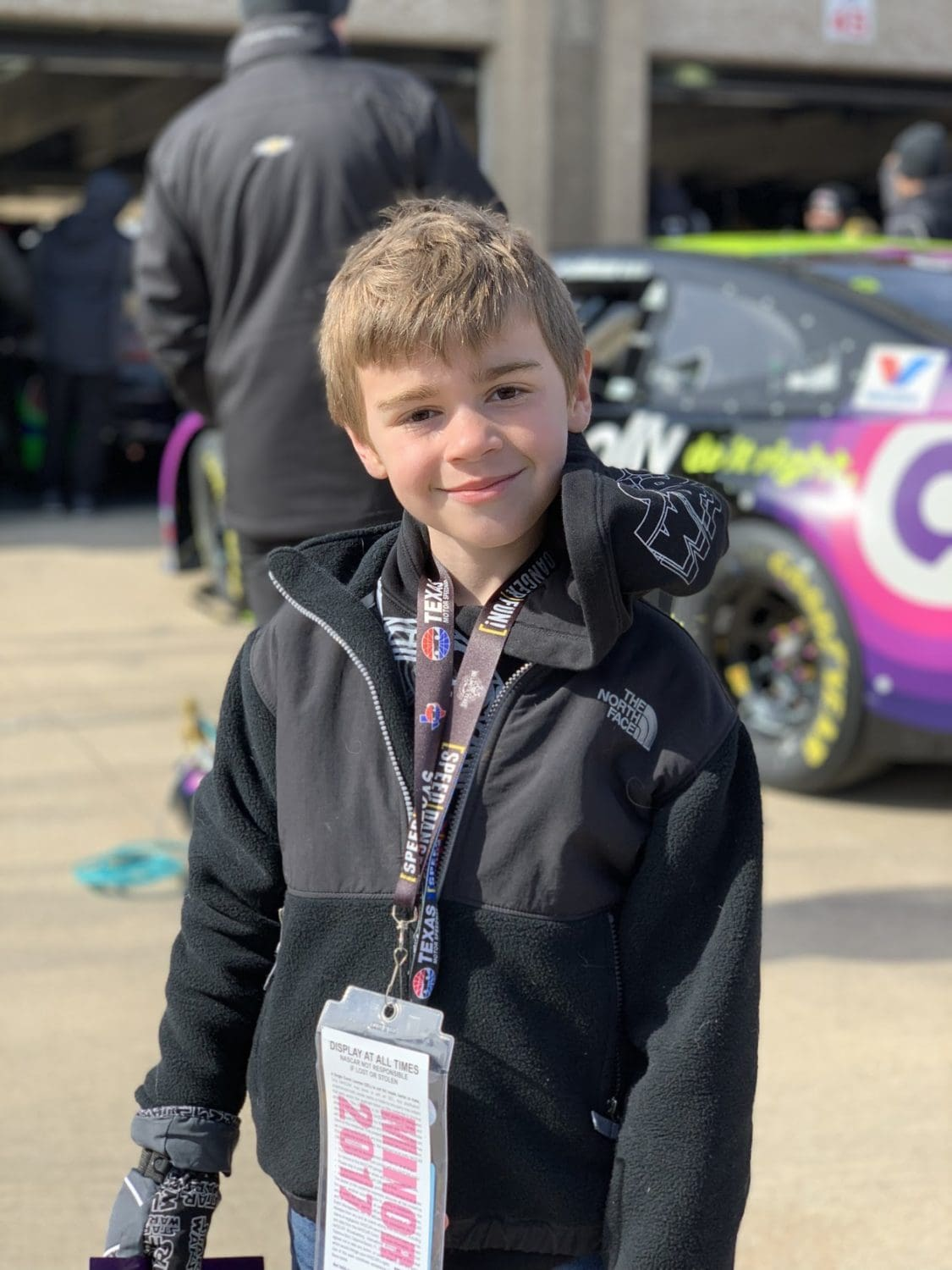 boy at Texas Motor Speedway