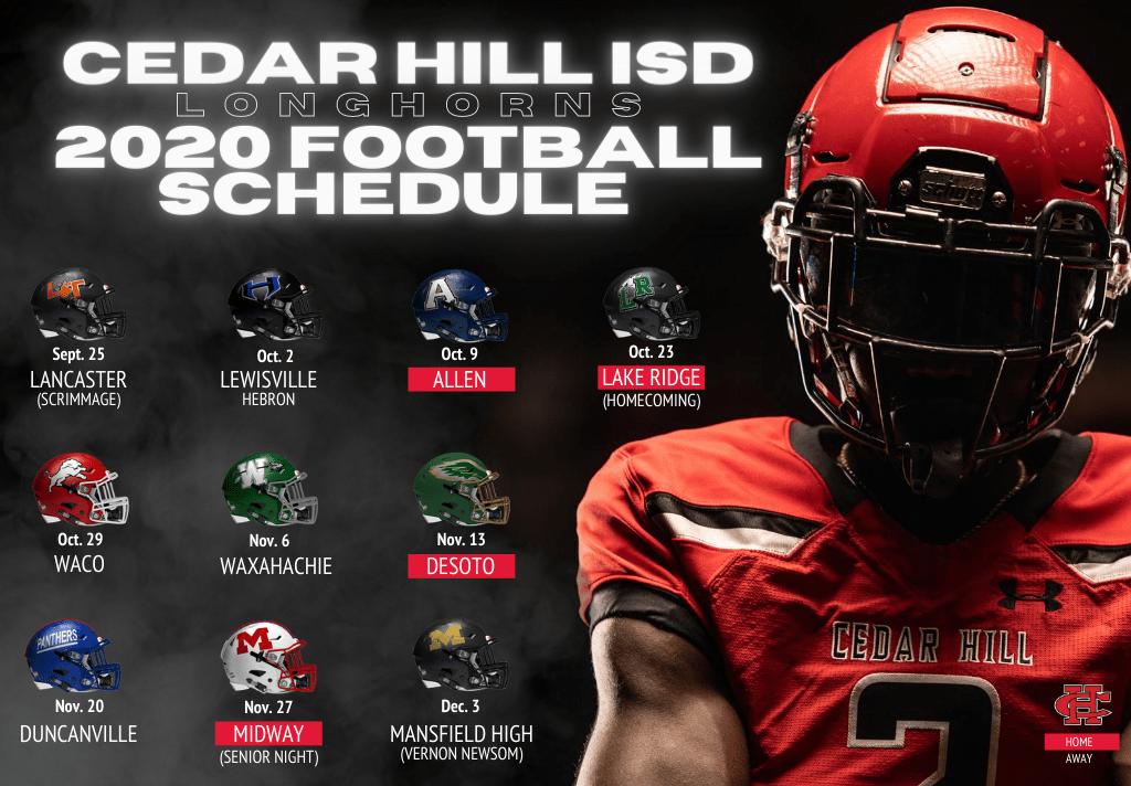 2020 Cedar Hill football schedule