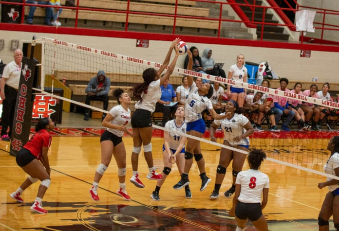 Cedar Hill Volleyball action shot