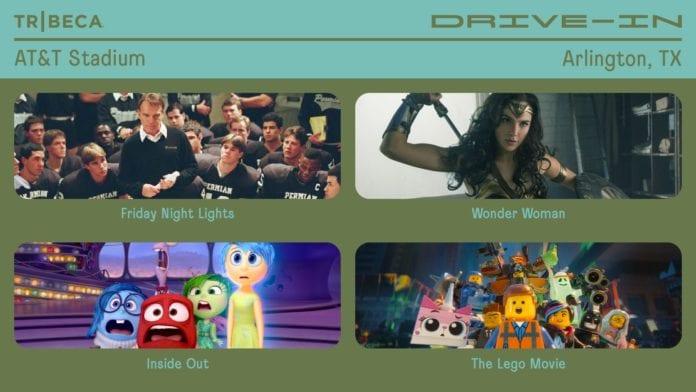 drive-in movie AT&T stadium