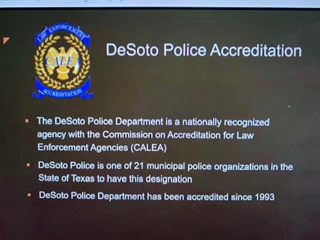slide outlining DeSoto Police Accreditation
