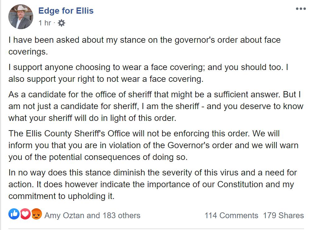 Ellis County Sheriff