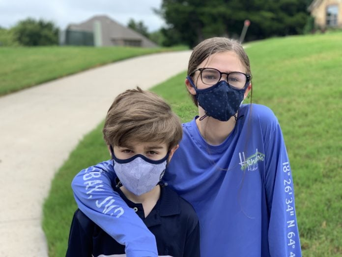 kids wearing face coverings