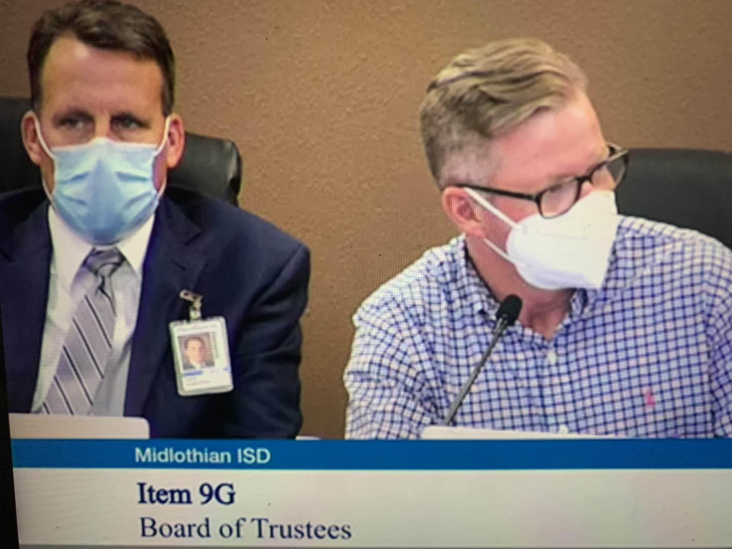 Screenshot from MISD Board meeting