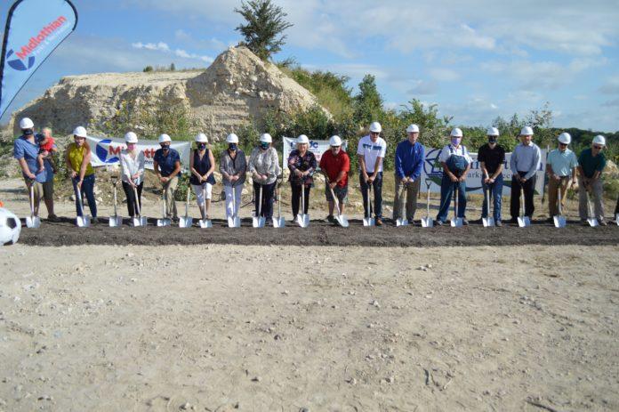 groundbreaking of Midlothian Community Park Phase 2