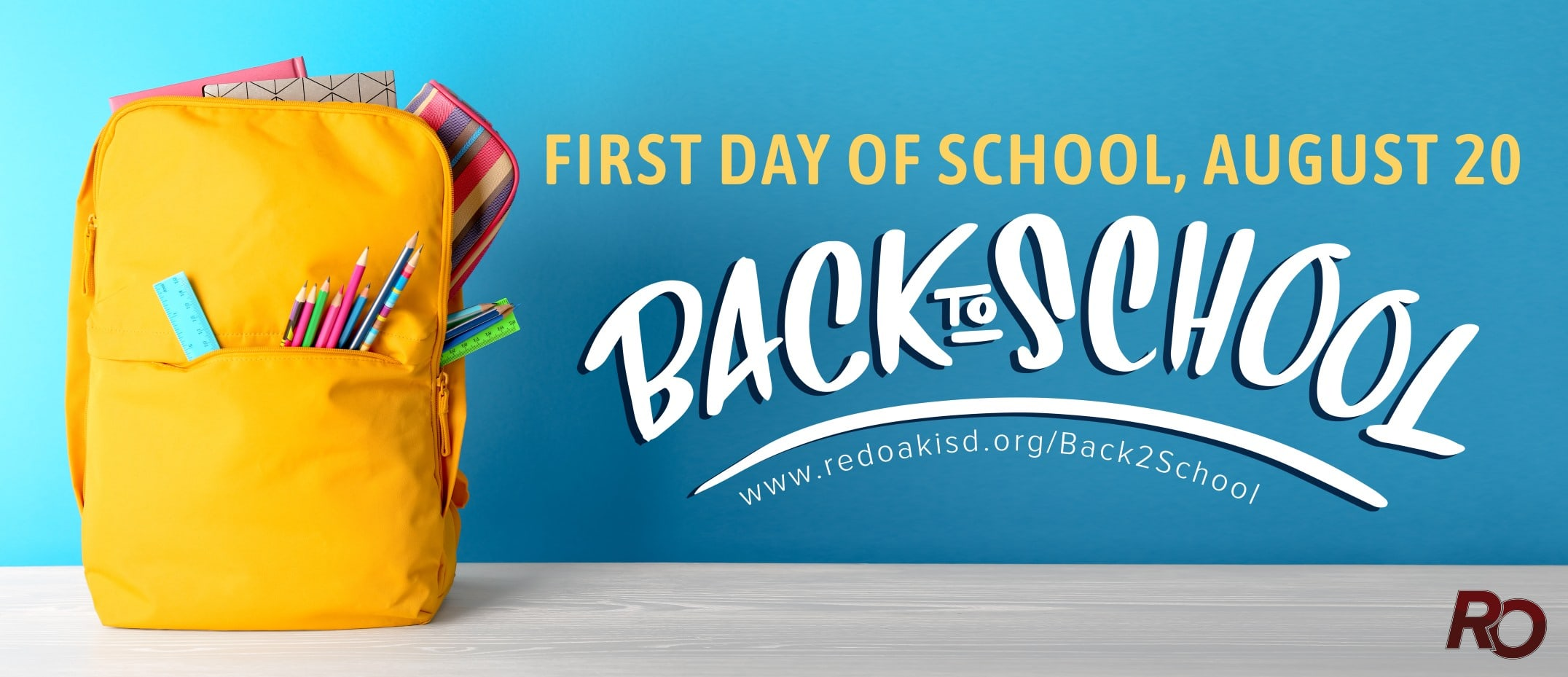 Red Oak ISD back to school graphic