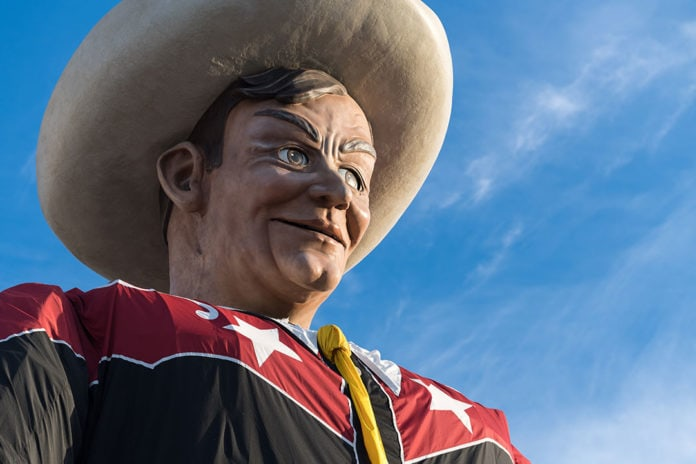 close up of Big Tex