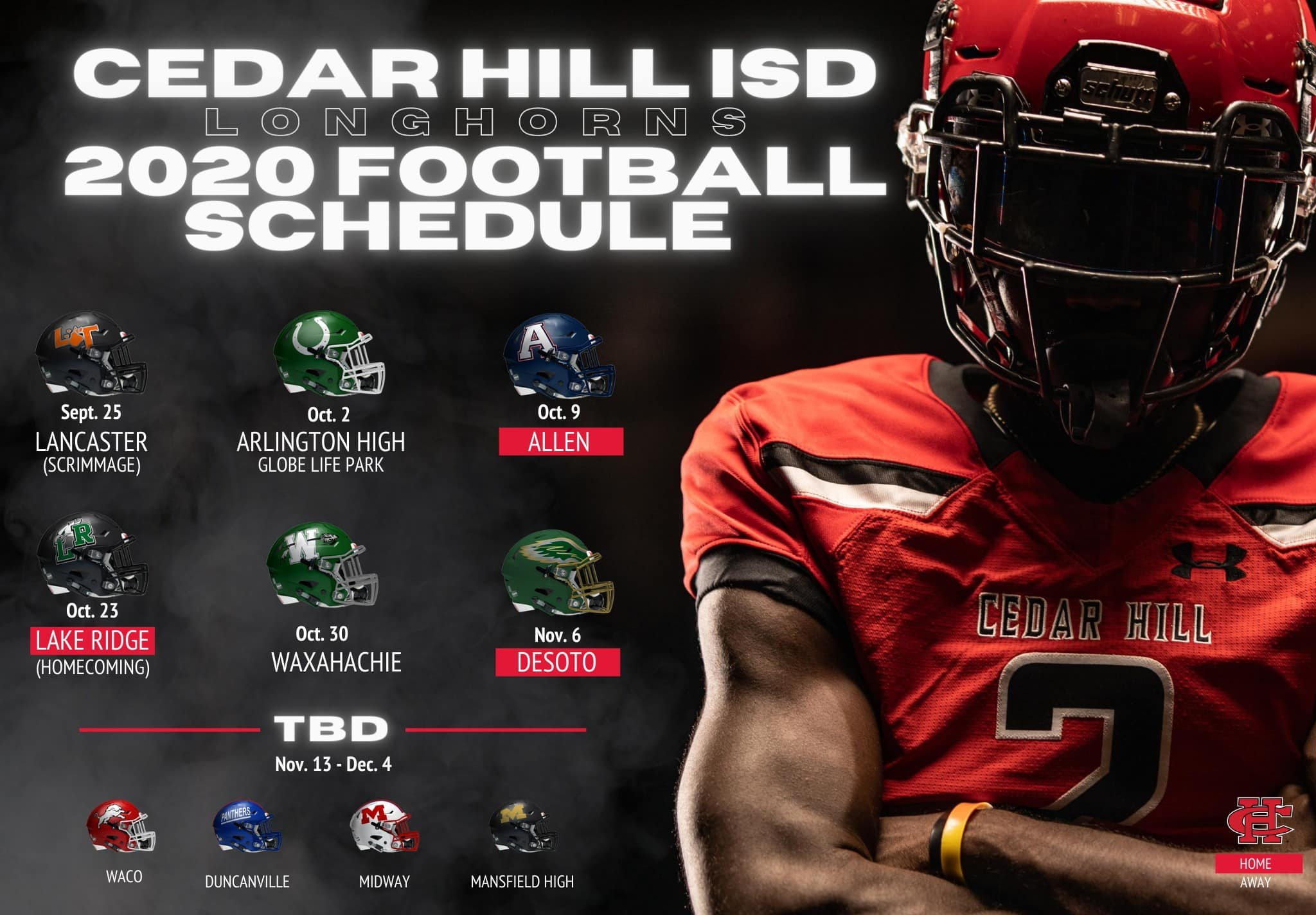 CHISD 2020 football schedule