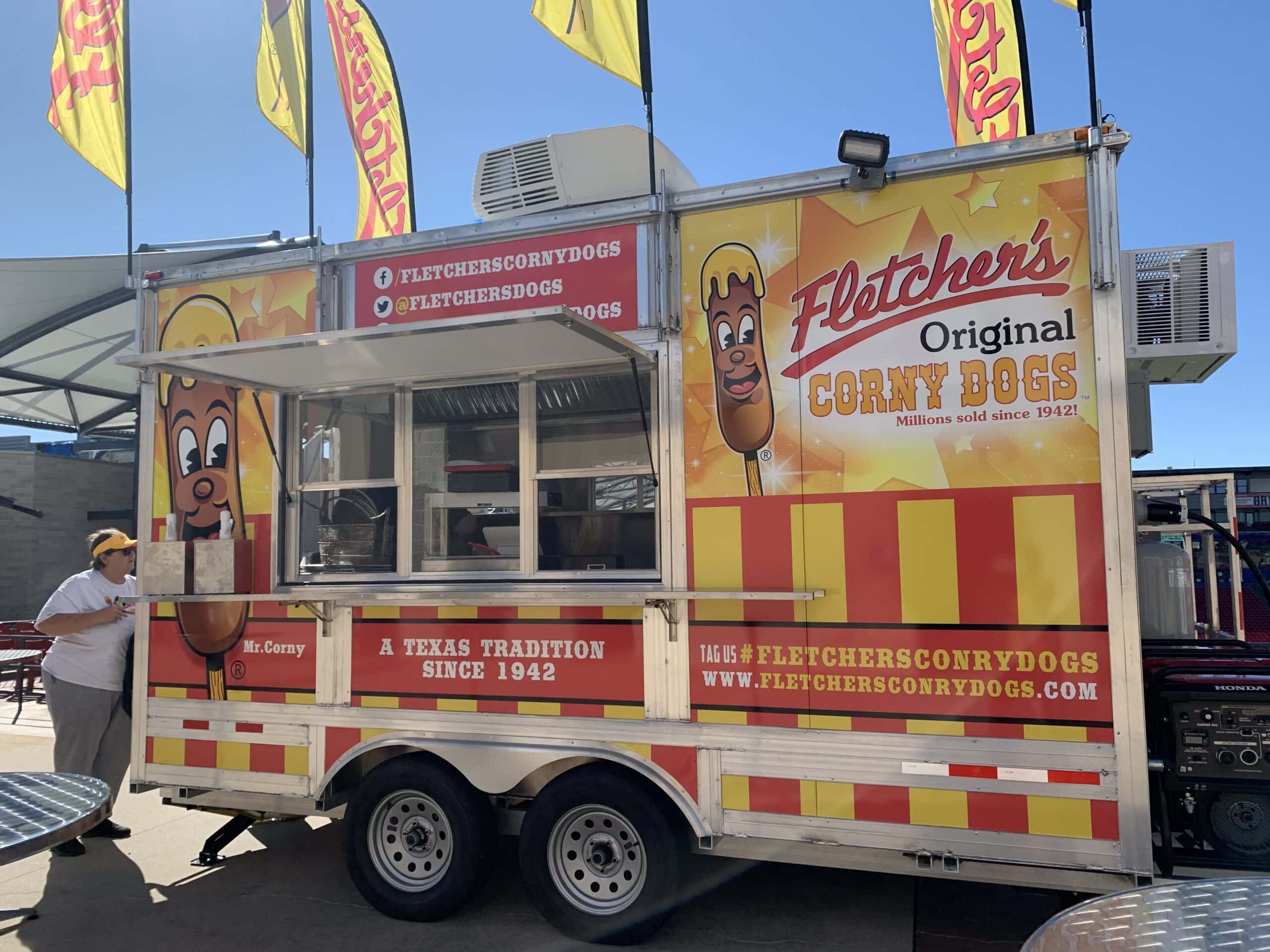 Fletcher's Corny Dogs mobile truck