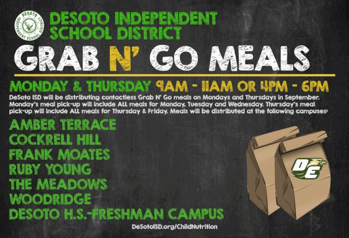 DeSoto ISD grab n go meals graphic