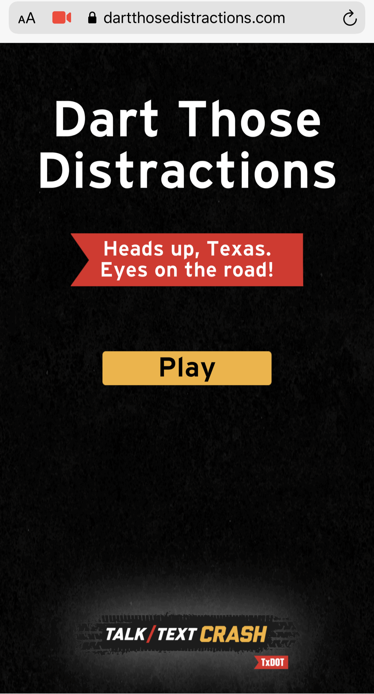 Dart Those Distractions App