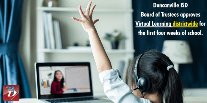 Duncanville ISD goes virtual through Oct. 2