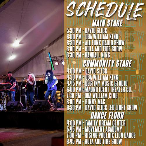 2020 Music Alley Schedule