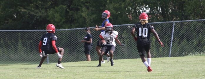 Cedar Hill football practice