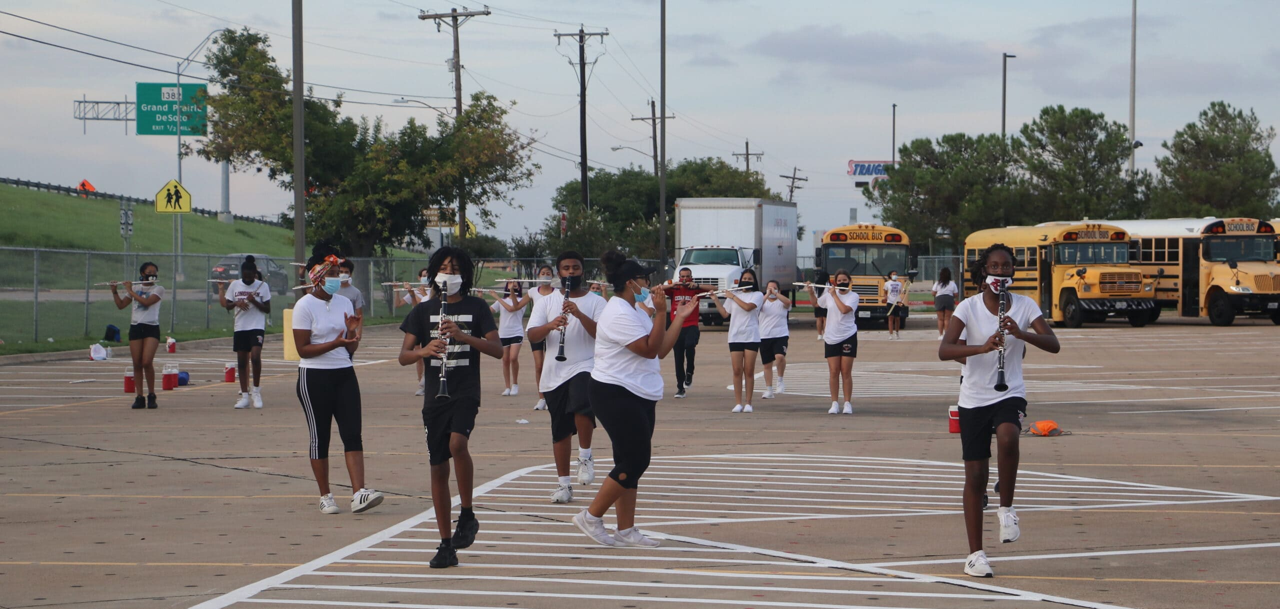 Cedar Hill marching band practice