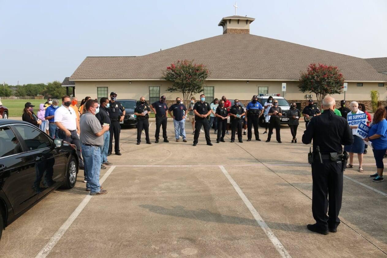 Cedar Hill residents walk with Police