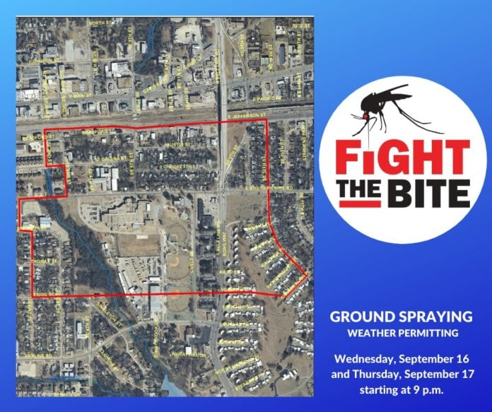 Mosquito spraying map