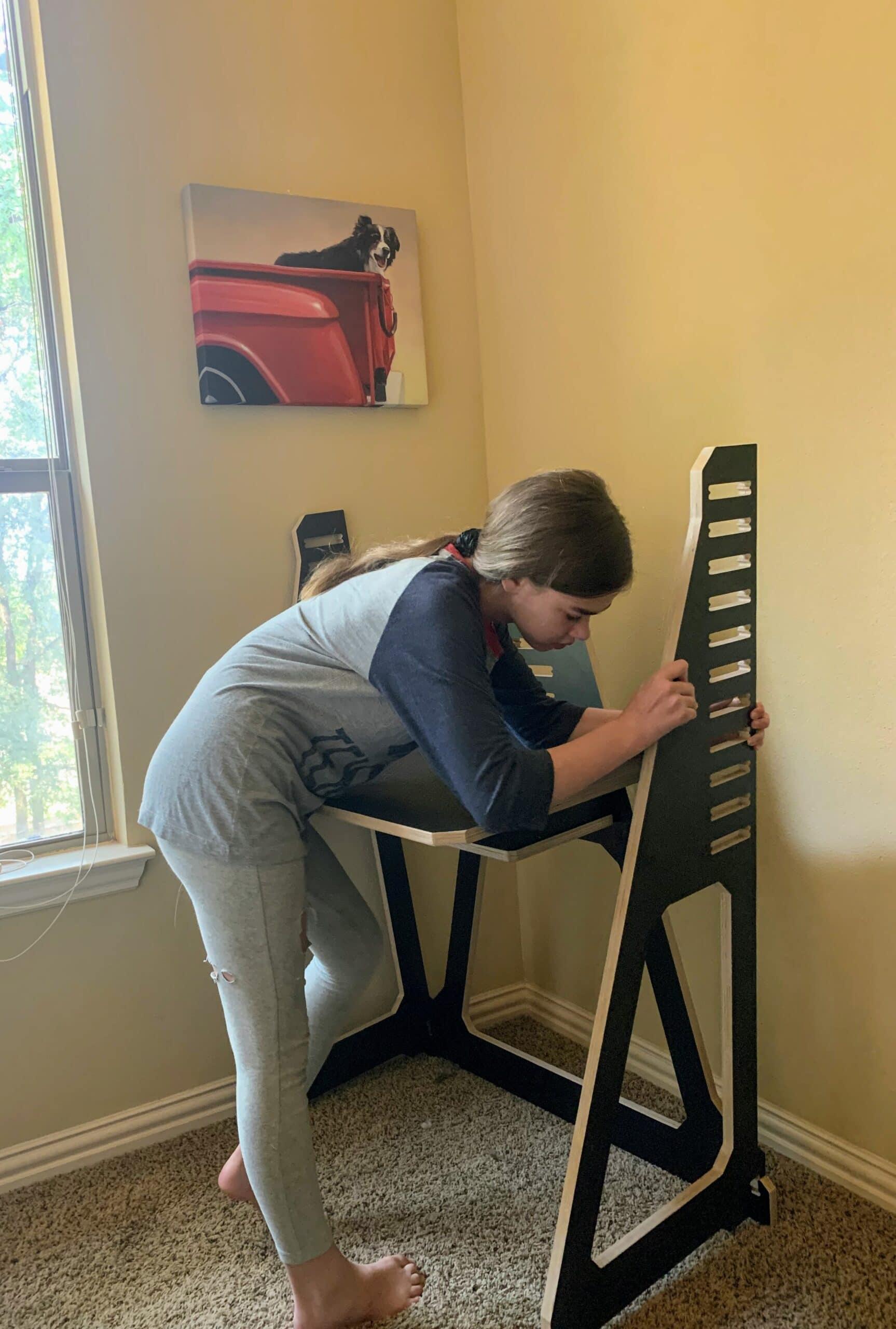 assembling work from home desk
