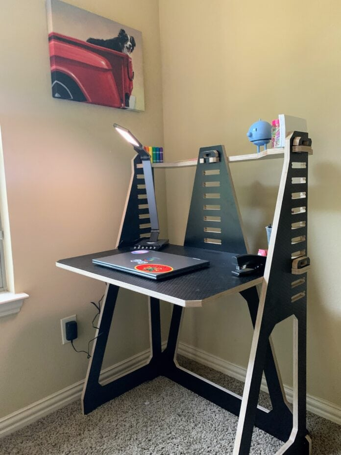 black work from home desk