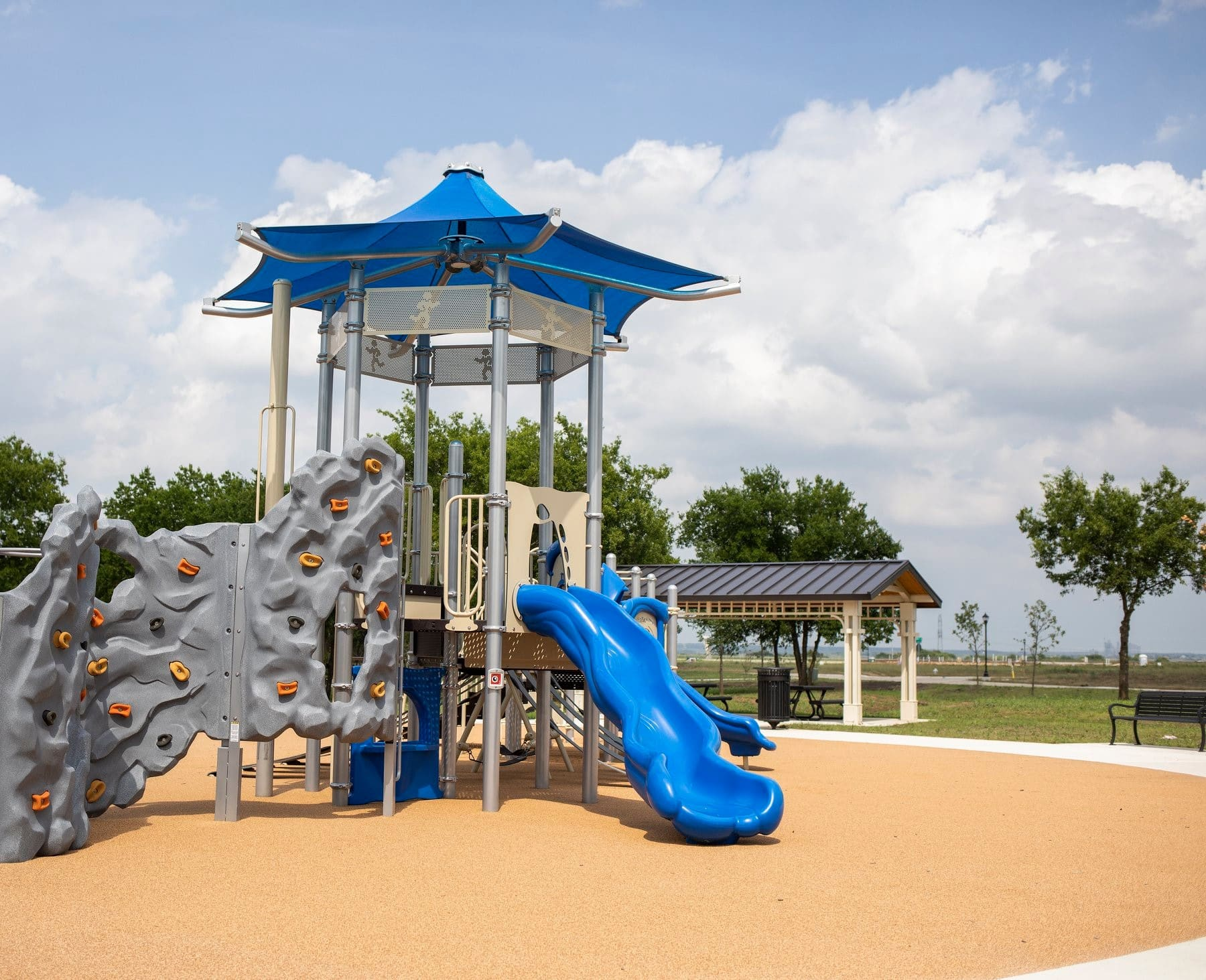 slide at Mansfield playground