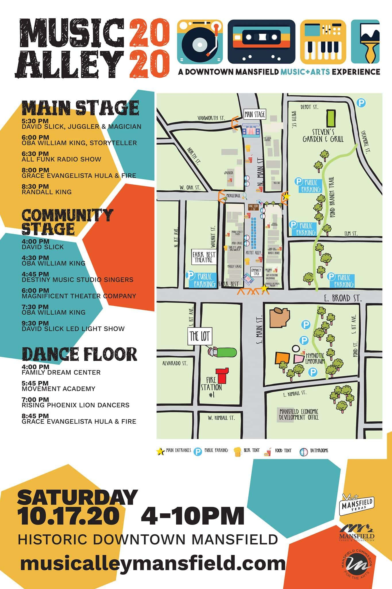 Music Alley 2020 map