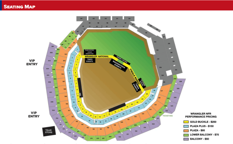 2020 NFR seating chart