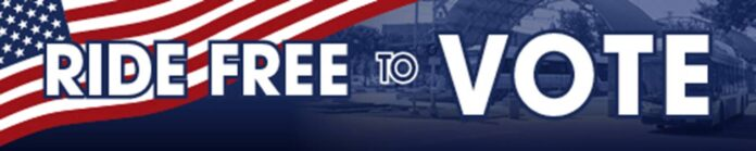 ride free to vote graphic