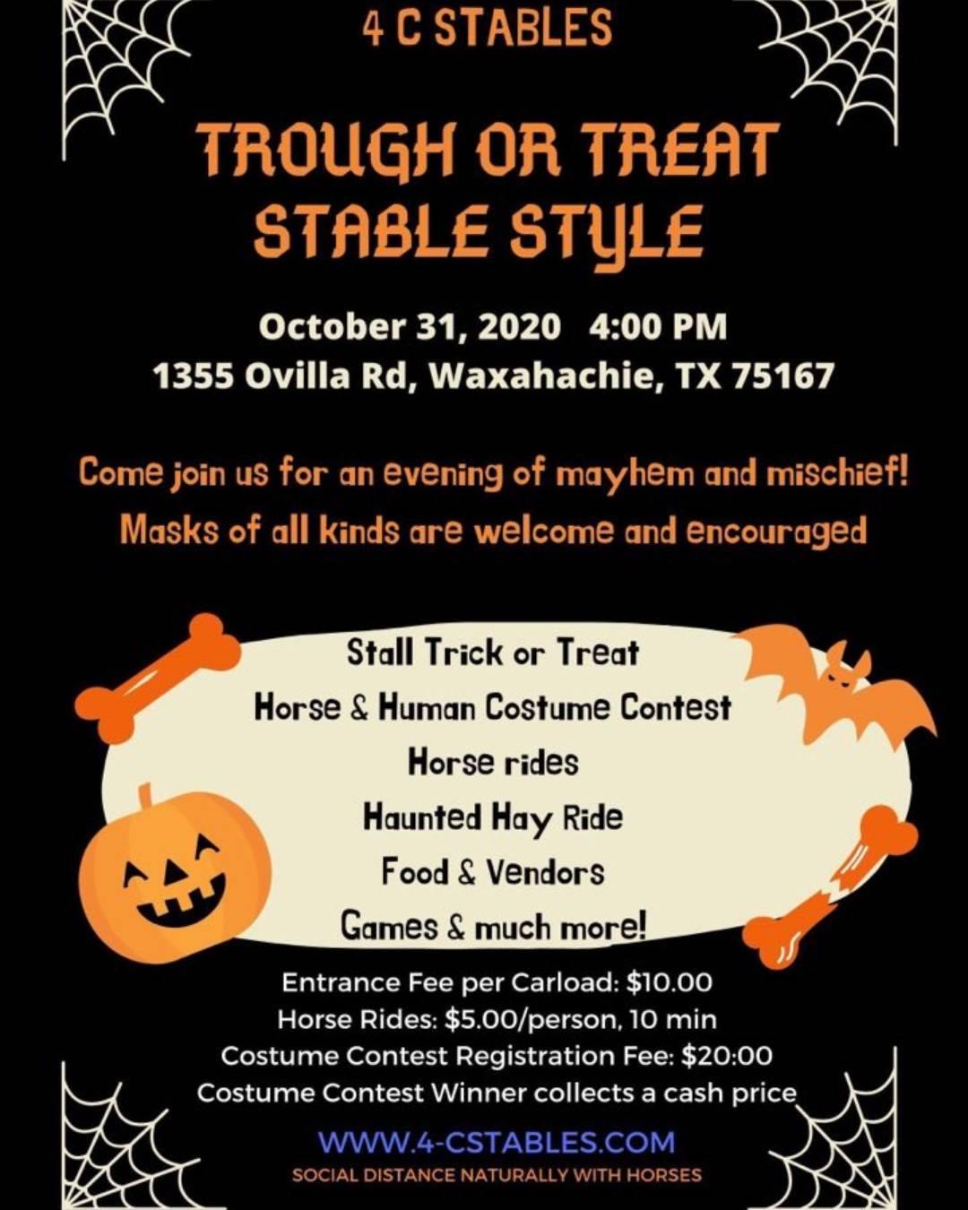 4C Stables Halloween flyer
