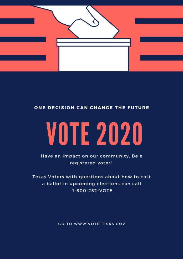 Vote 2020 poster