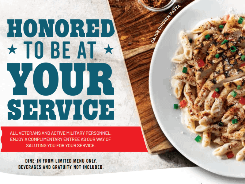 Chilis Veterans Day Poster