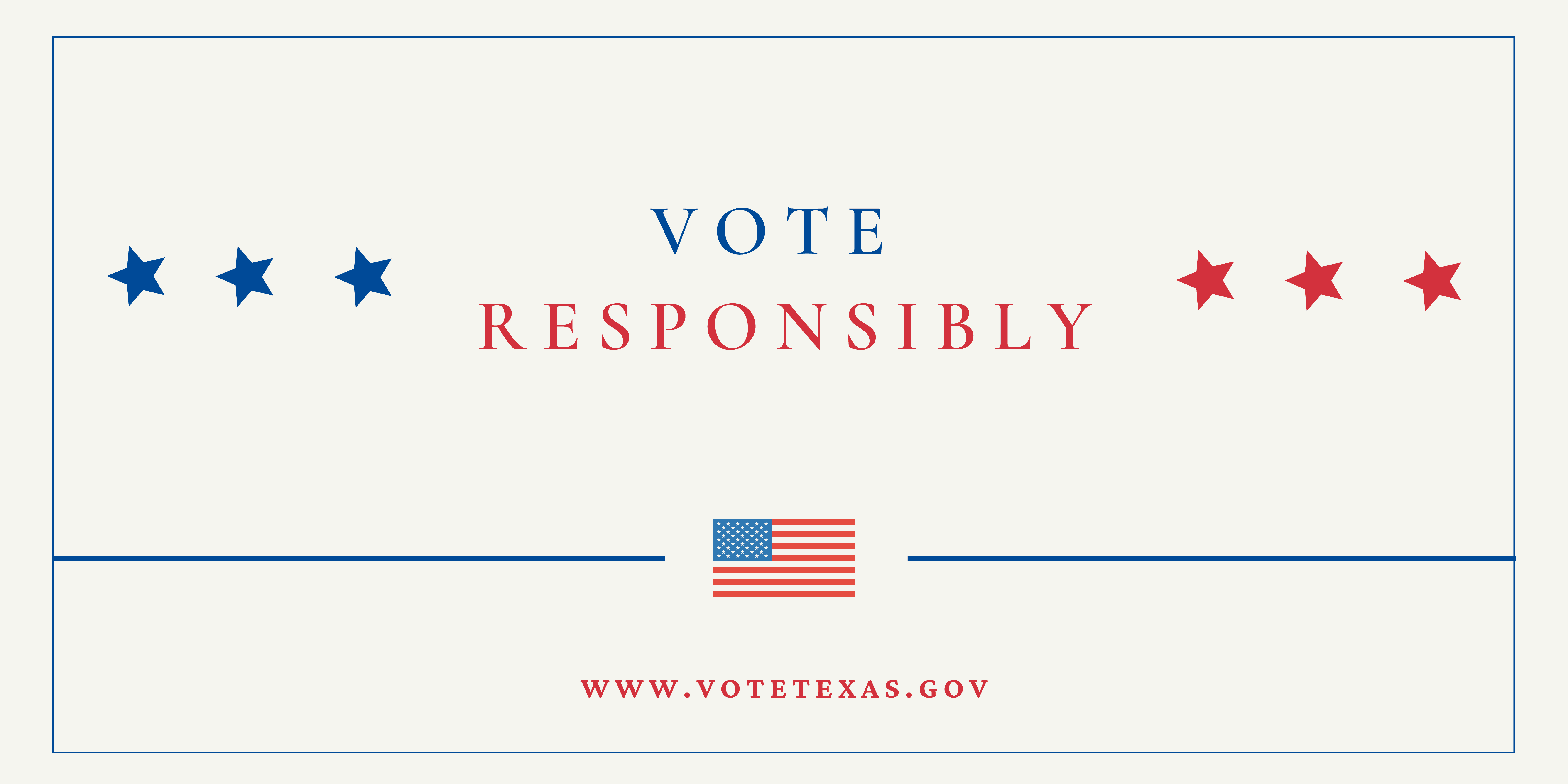 Vote Responsibly Banner