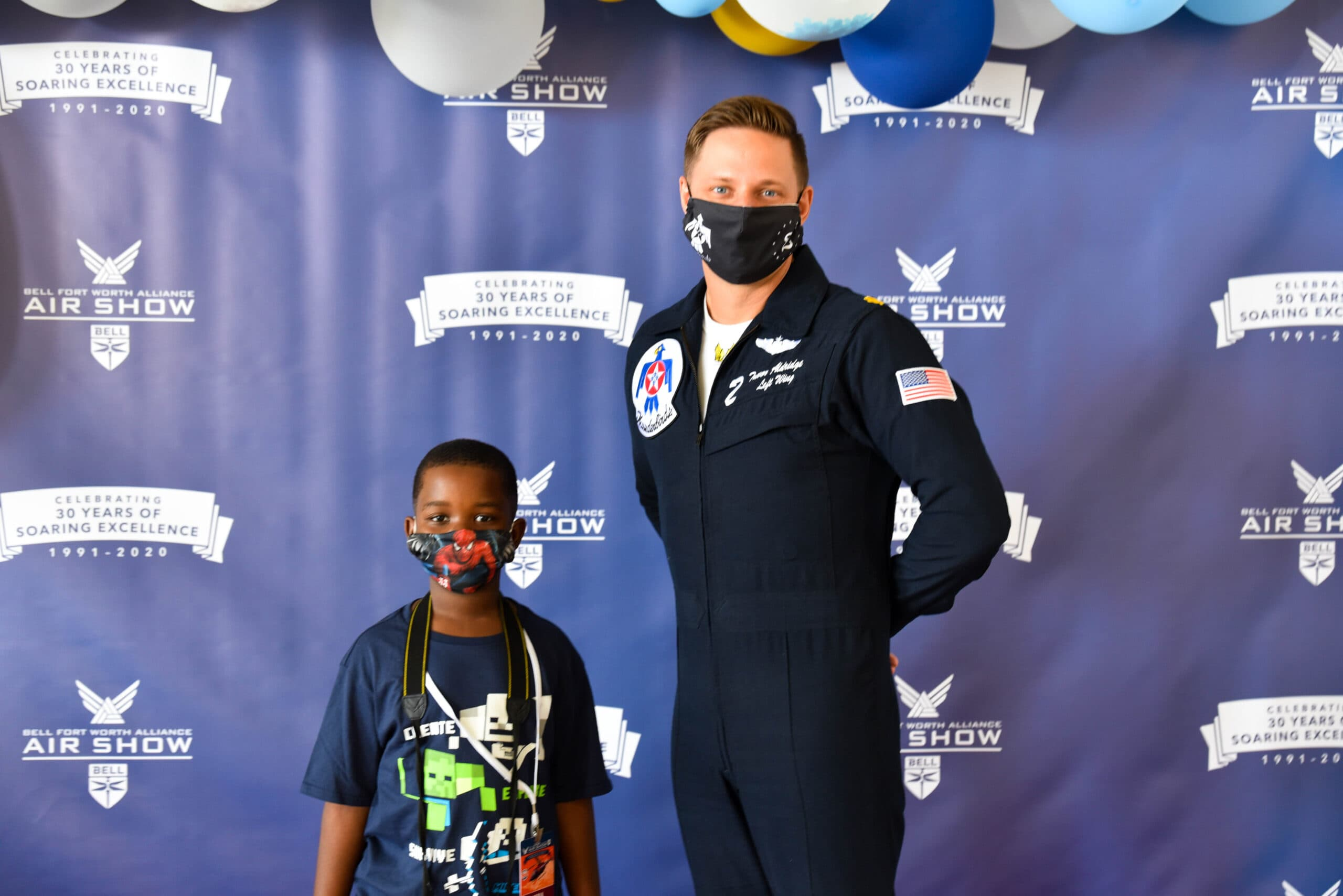 Thunderbird Pilot with young fan