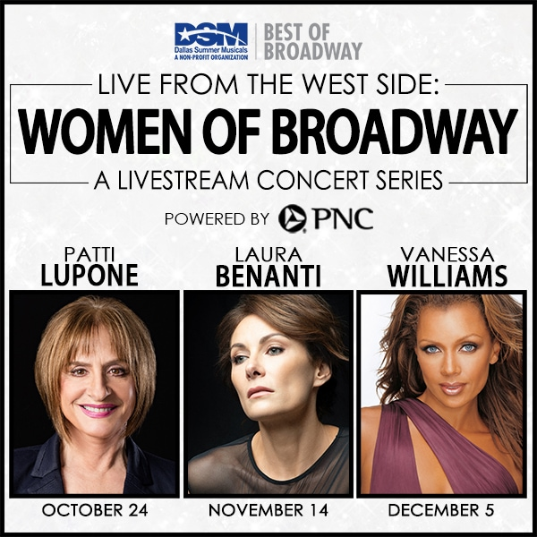 Women of Broadway livestreaming concert