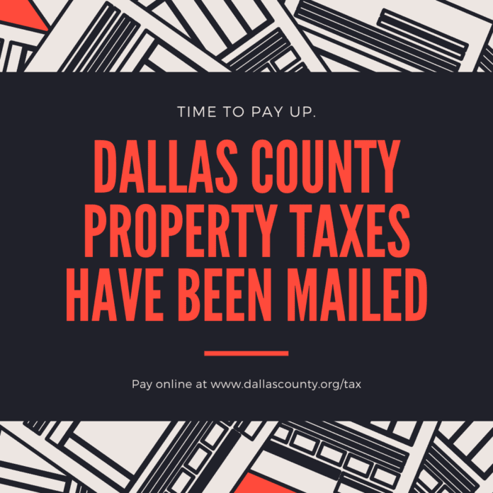 Dallas County Taxes Social Media Graphic
