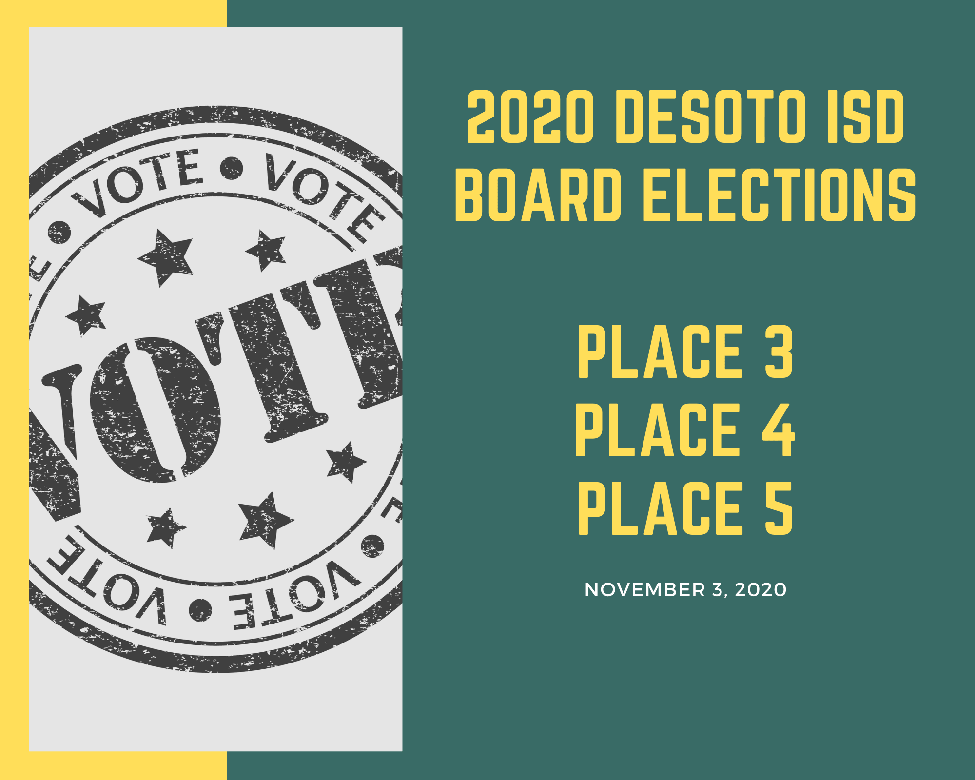 DeSoto ISD Elections graphic