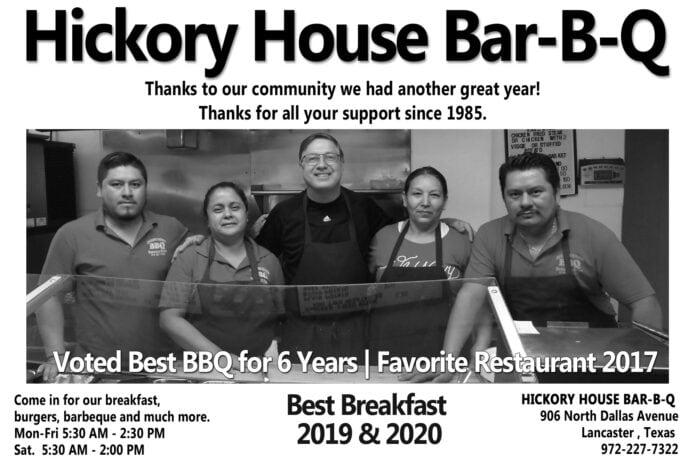 Hickory House BBQ ad