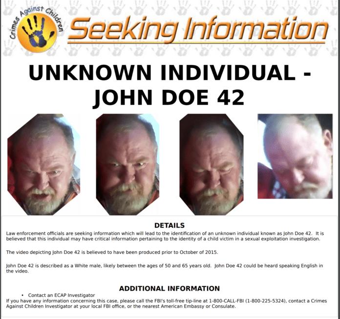 FBI John Doe poster