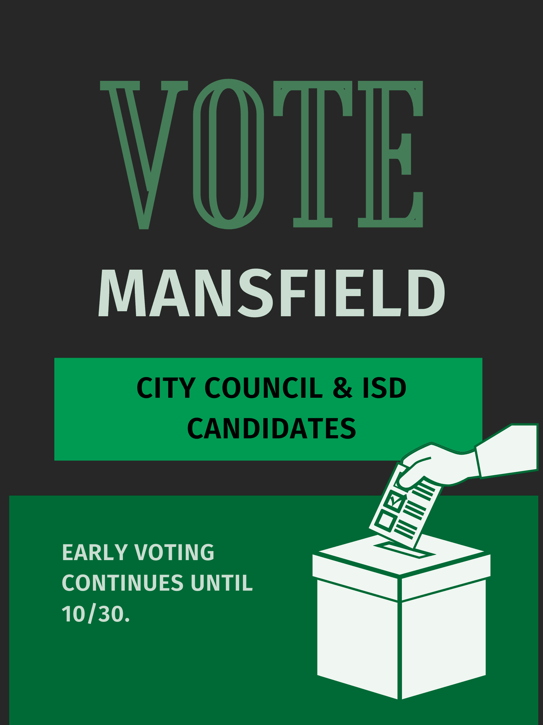 Vote Mansfield Council Flyer