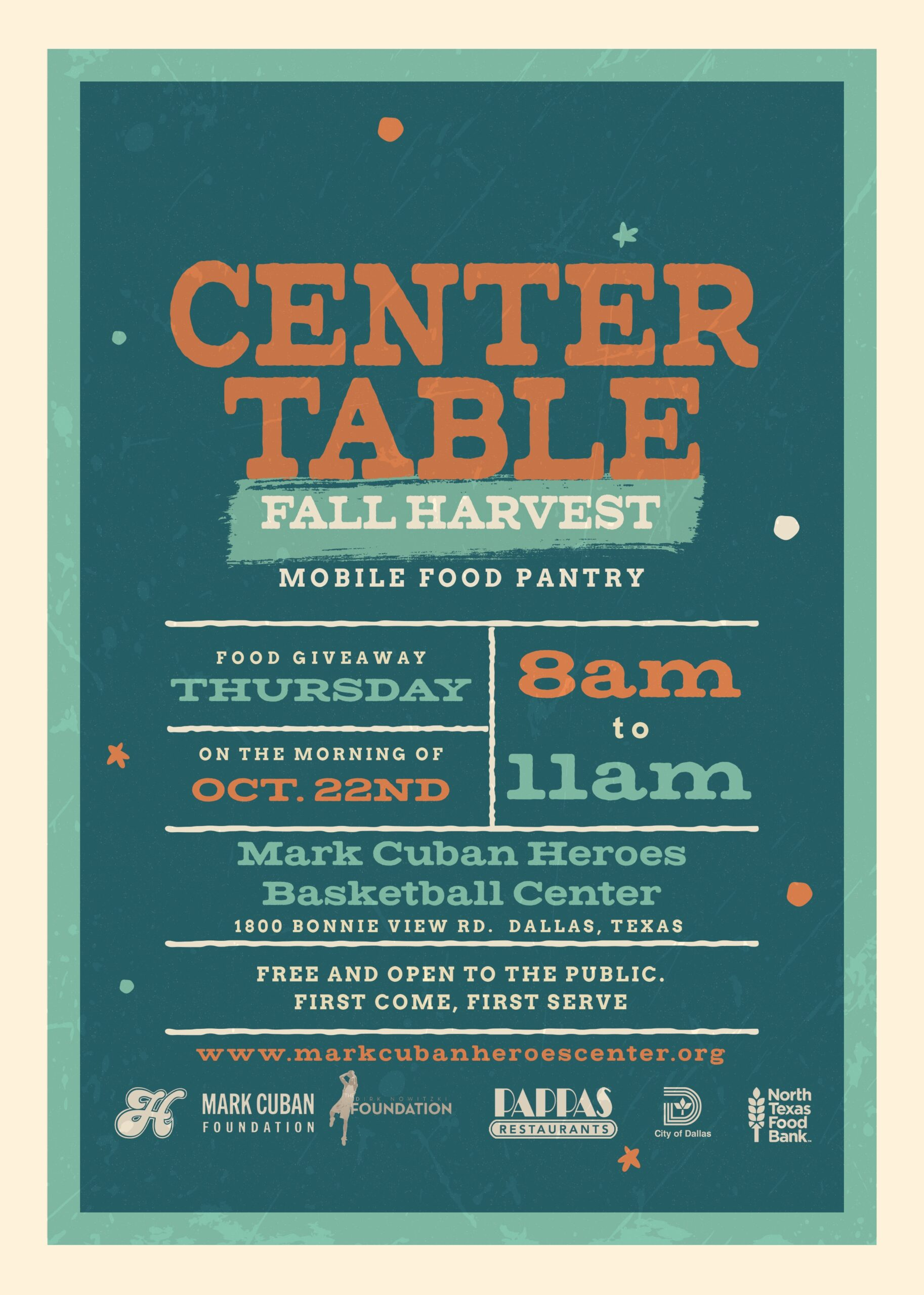 Center Table Fall Harvest Flyer