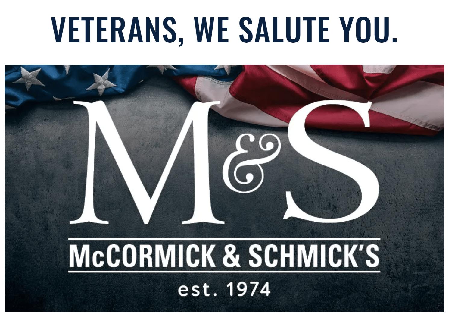 McCormick and Schmicks flyer