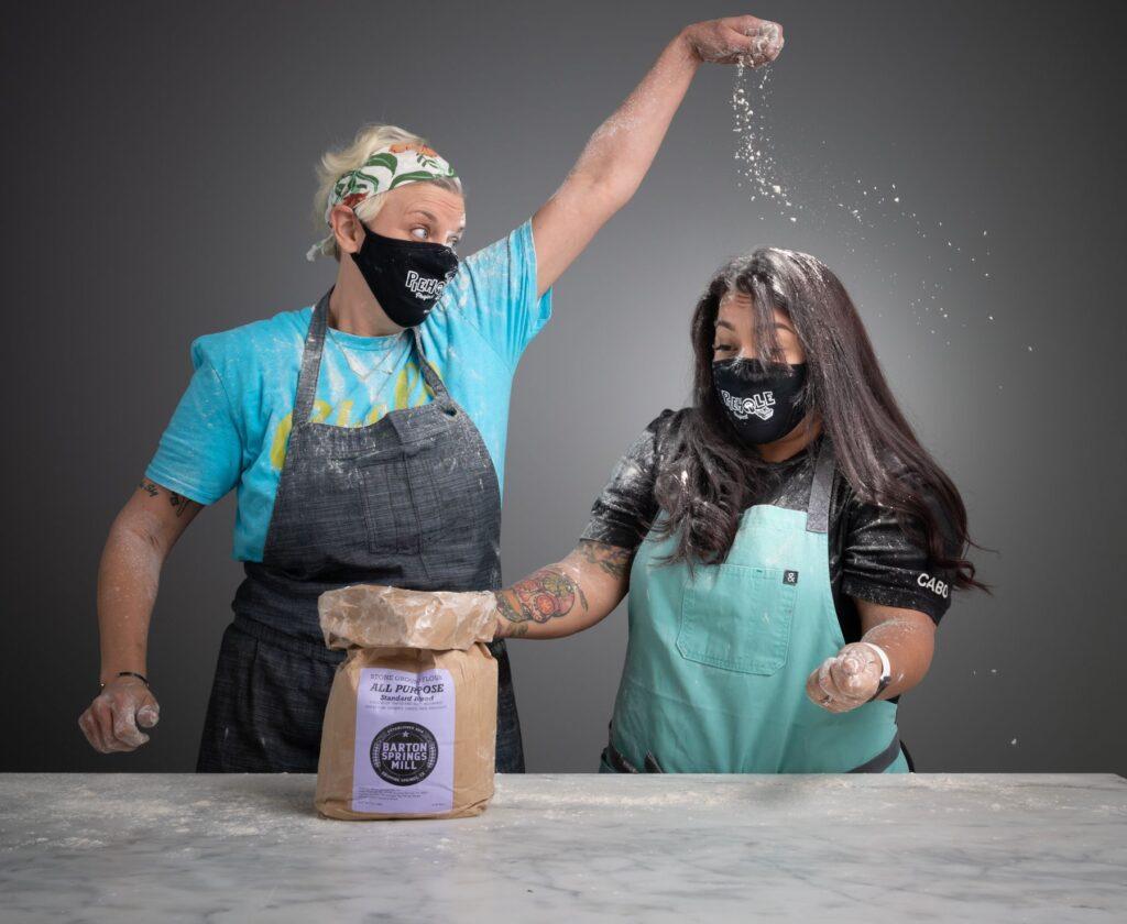 Chefs Jeana Johnson and Anastacia Quinones