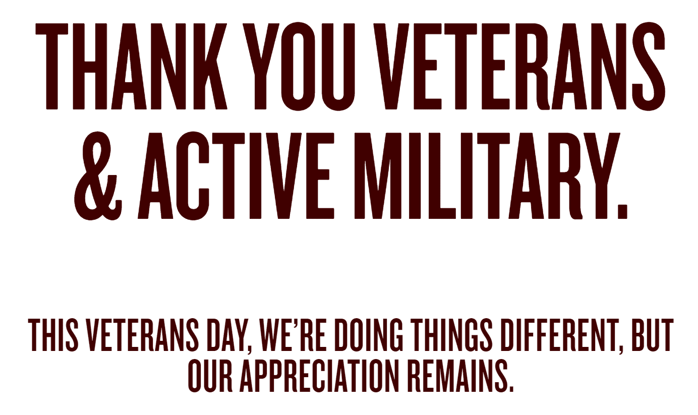 Veterans Day Red Robin text