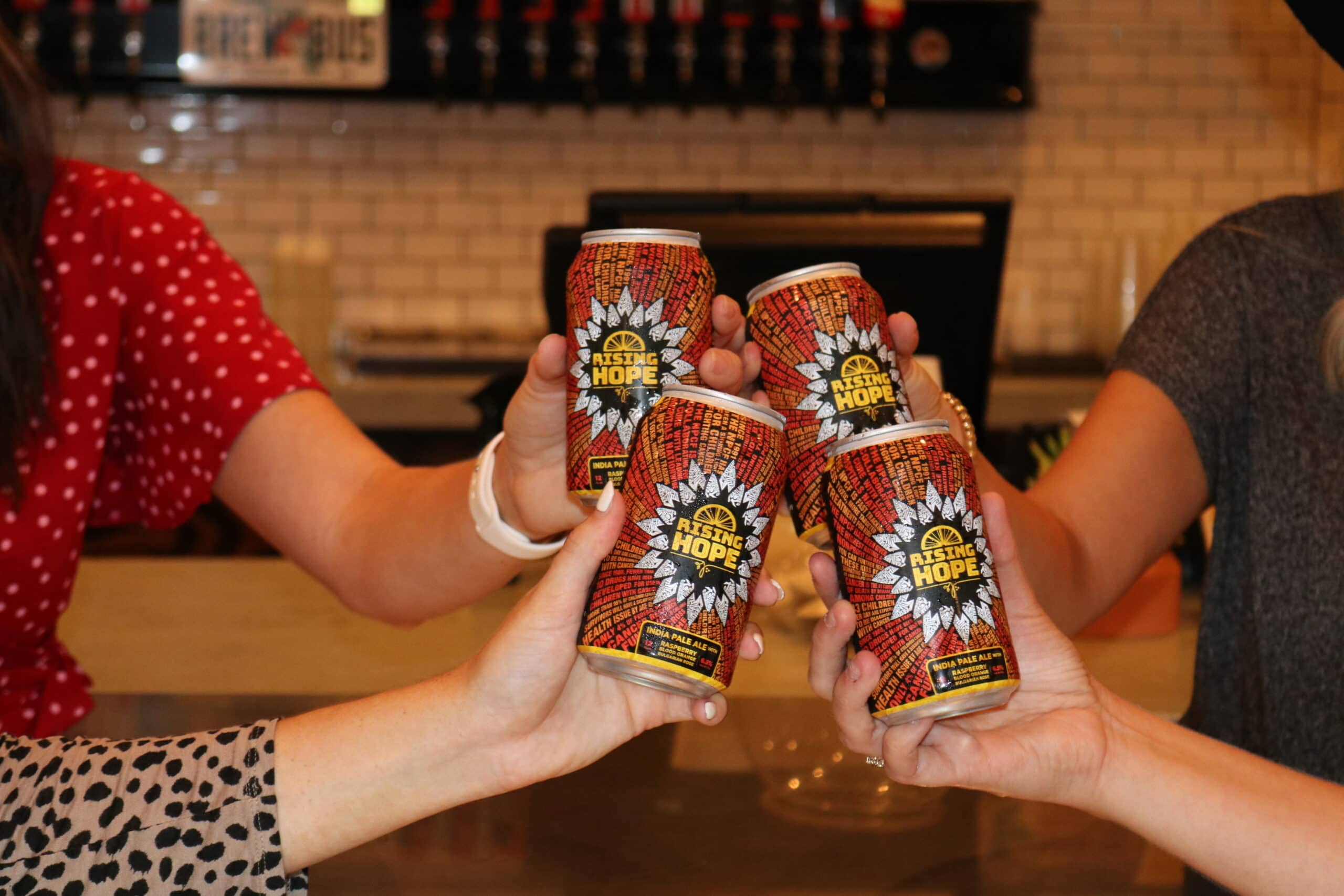 Rising Hope Cans Cheers
