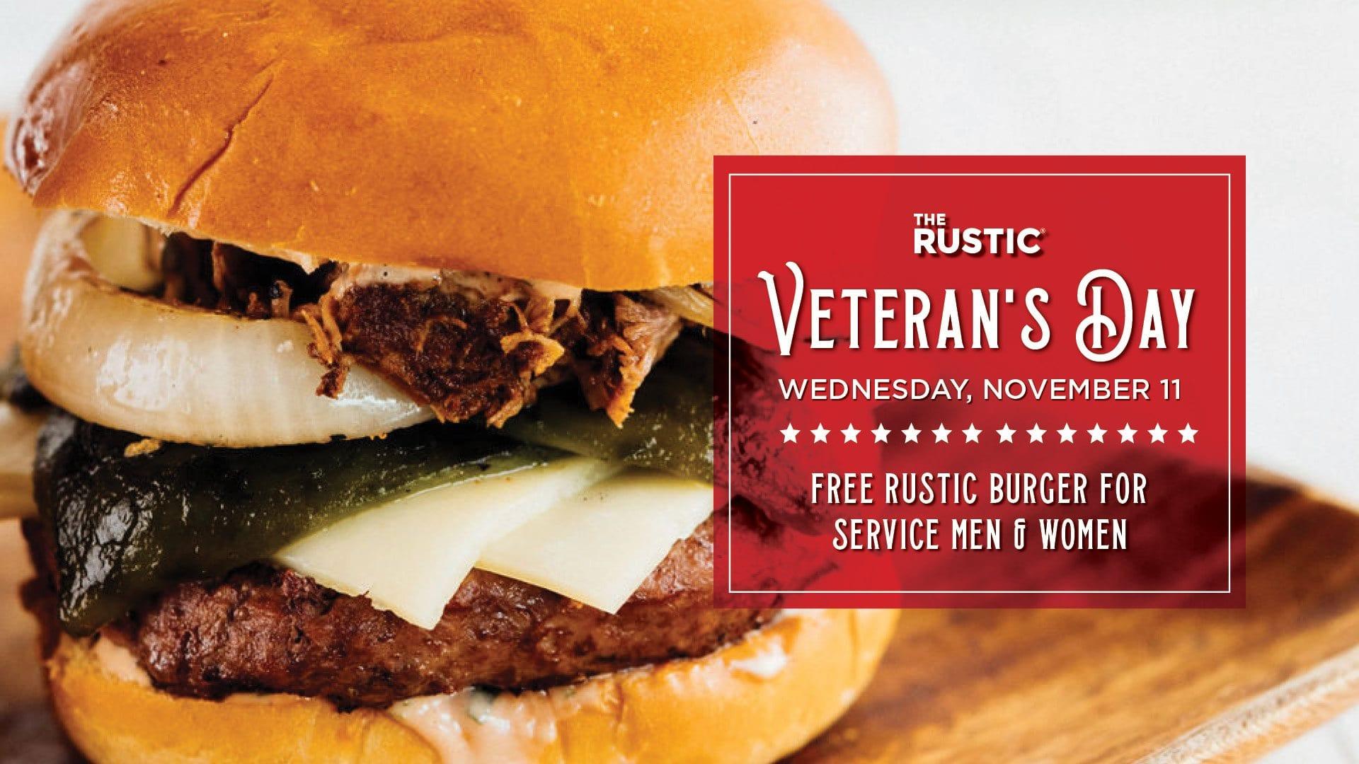 Rustic Veterans Day flyer