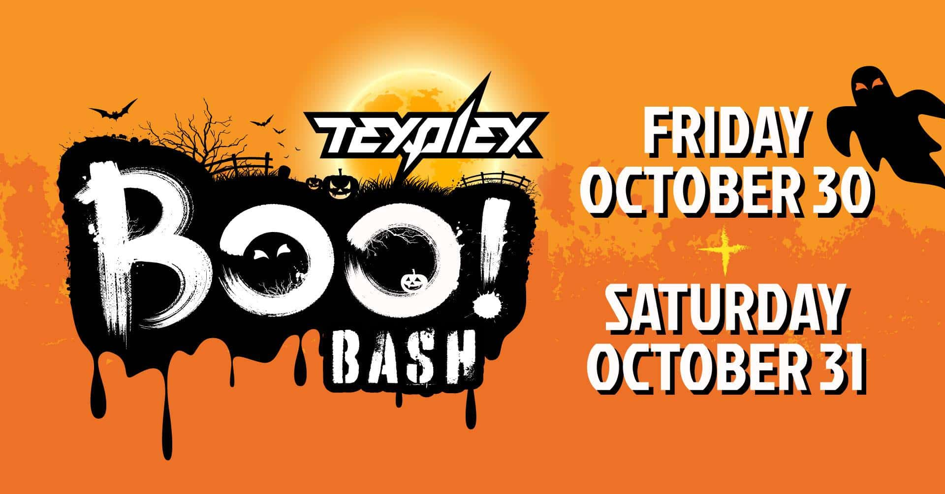 TexPlex Boo Bash flyer
