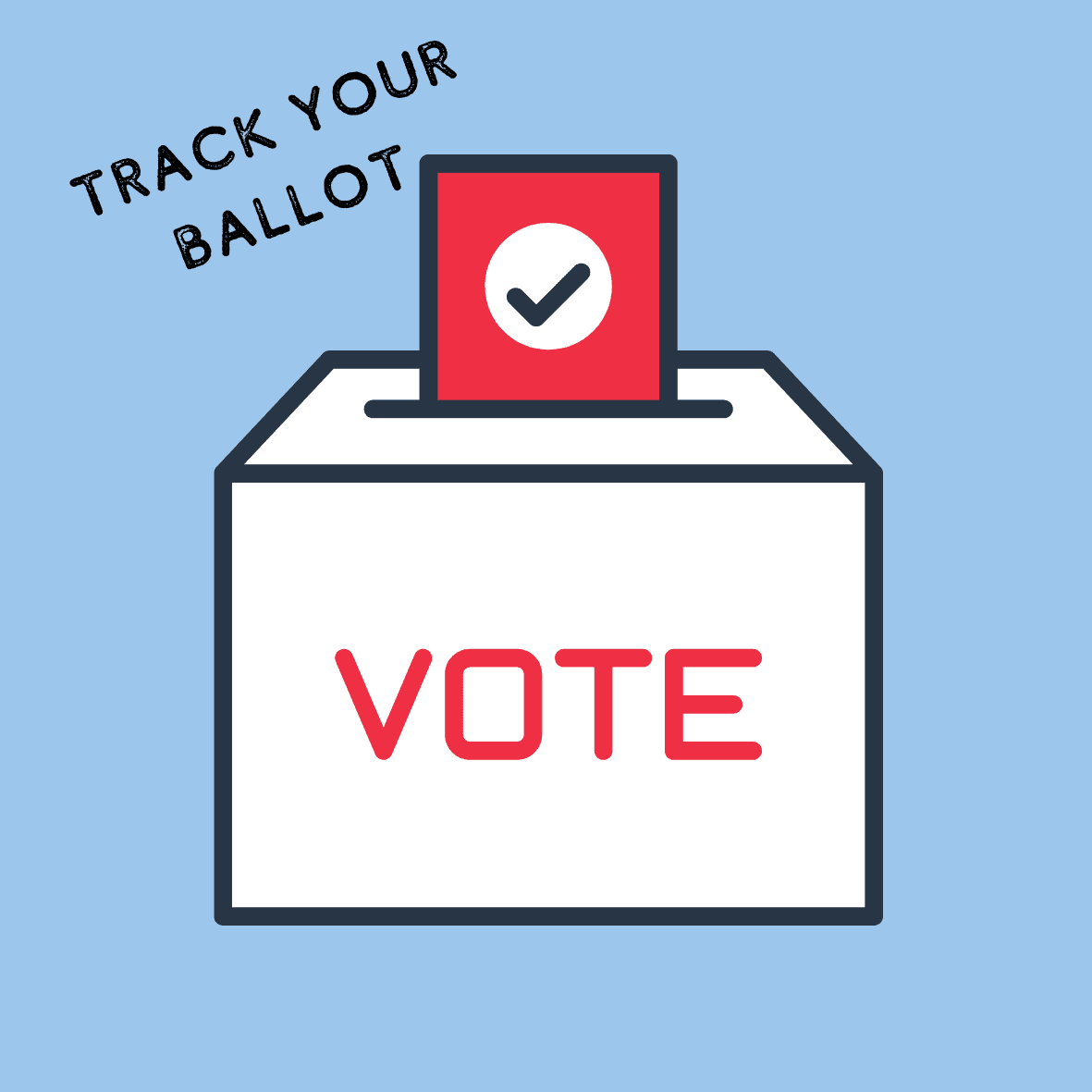 Track your ballot graphic