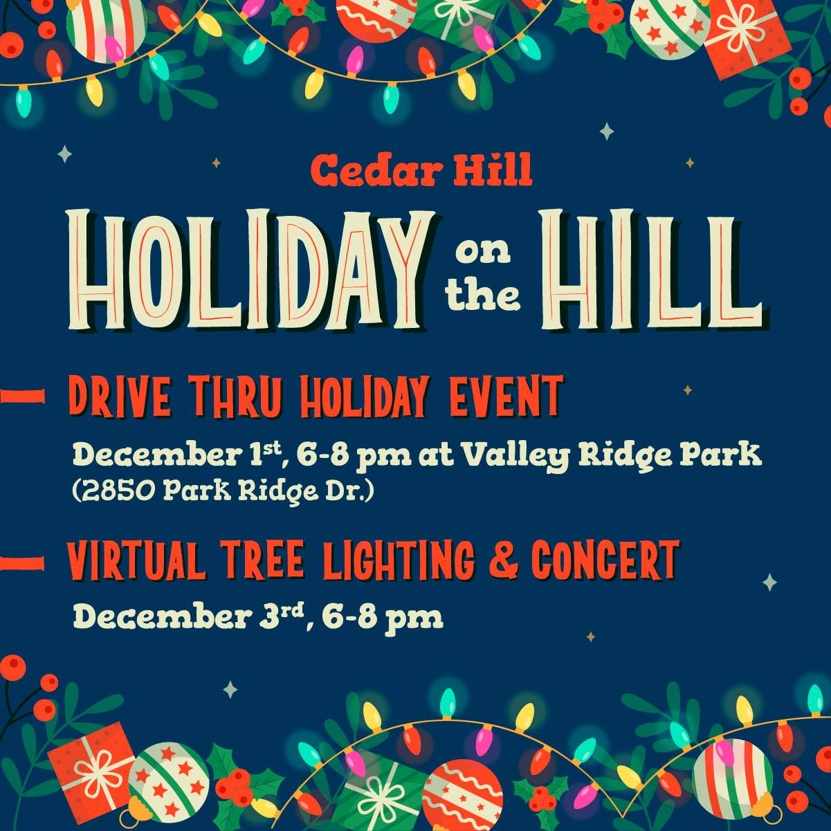 Cedar Hill Holiday on the Hill flyer