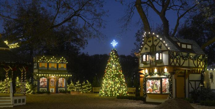 Dallas Arboretum expands Christmas Village